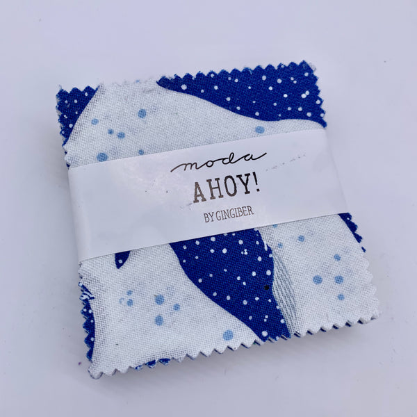 "Moda - Ahoy! 2.5"" Individual Mini Charm Pack Precuts 