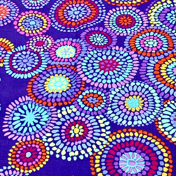 Kaffe Fassett Collective: Mosaic Circles Blue 1/2m