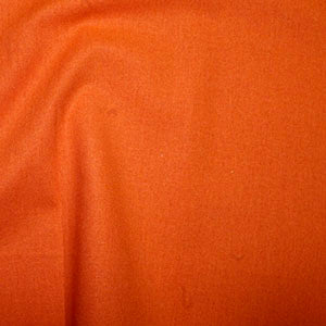 100% Cotton Plain: #18 Orange: Cut to Order by the 1/2m