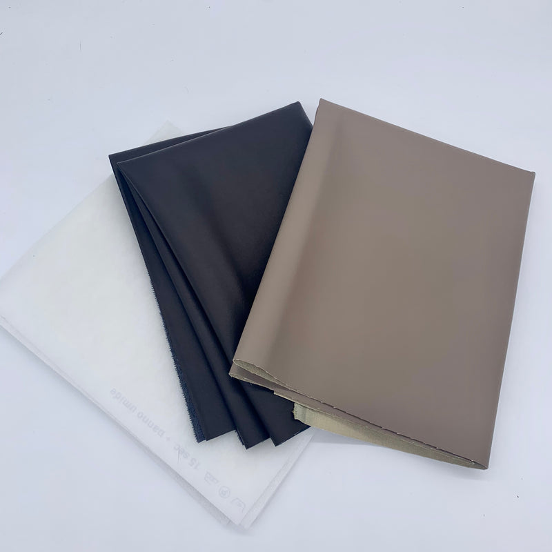 PU Leather Fat Quarter Bundle - Taupe & Dark Brown Custom Bundle | Natasha Makes