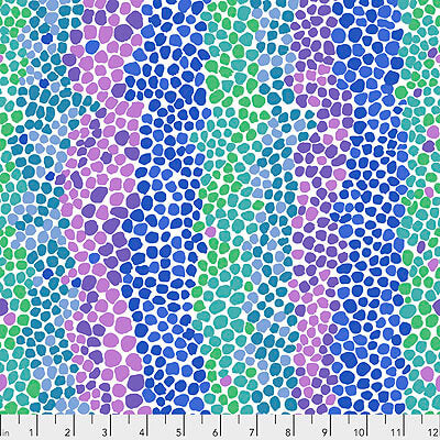 Kaffe Fassett Collective 2021: 'Pebble Mosaic' Ice: Cut to Order by the 1/2m