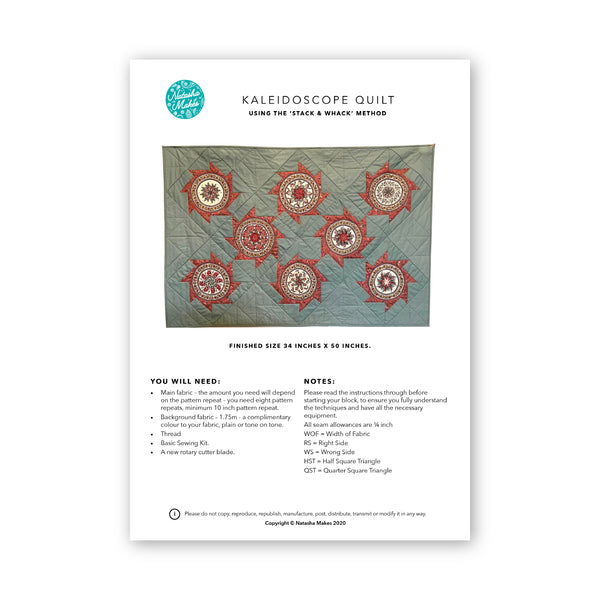 The Kaleidoscope Quilt: Physical Instructions
