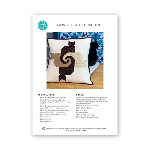 Twisted Cats tail pattern Physical Instructions