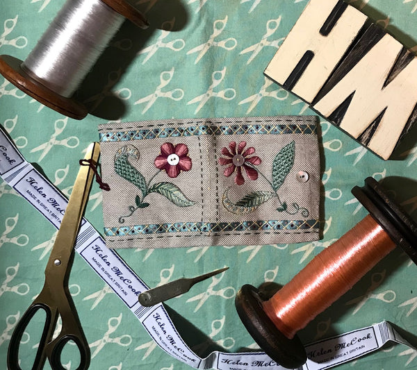 Helen McCook 'Pinktacular' Embroidered Needle Case Kit