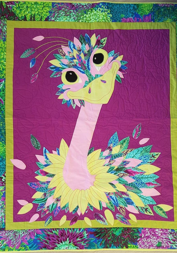 Priscilla Emu Quilt Pattern & Instructions