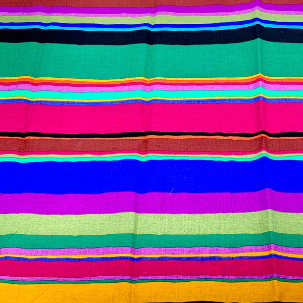 Kaffe Fassett Collective: Promenade Stripe 'Dark' 1/2m
