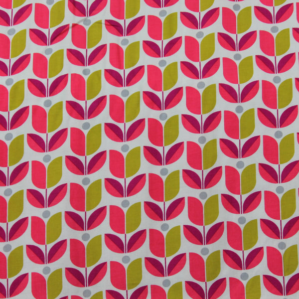 Flora Tulip RAJD0068POPP Backing Fabric | Natasha Makes
