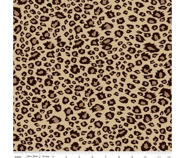 Riley Blake On Safari: Leopard Brown: Cut to Order by the 1/2m
