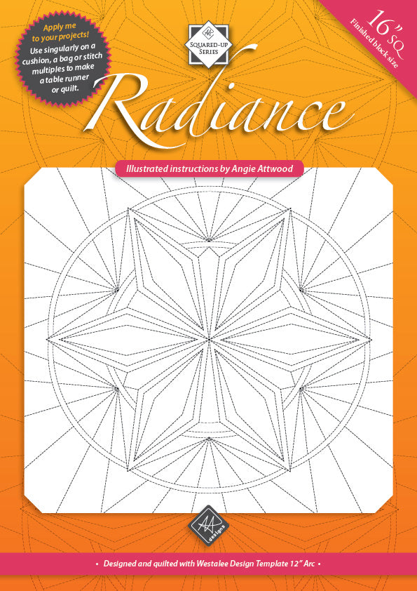 Radiance Illustrated Quilting Instructions by Angie Attwood Instructions | Natasha Makes