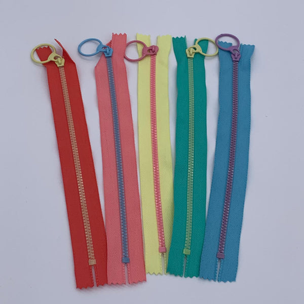 "Rainbow Zip Bundle: 5 x 8"" Zips"