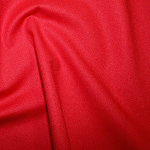 100% Cotton Plain: #27 Red: Cut to Order by the 1/2m