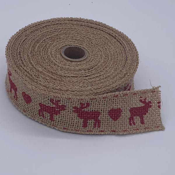 HESSIAN FULL ROLL 10M - REINDEER Accessory | Natasha Makes