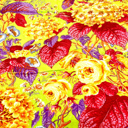 Kaffe Fassett Collective: Rose & Hydrangeas 'Citrus' 1/2m
