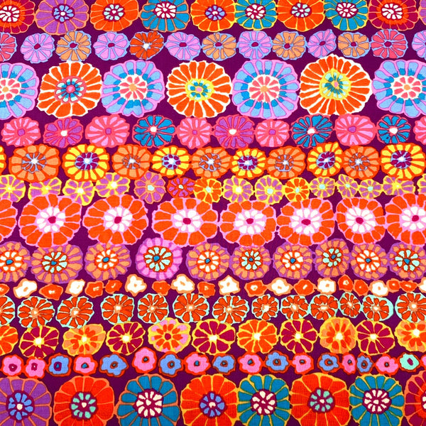 Kaffe Fassett Collective: Row Flower Red 1/2m