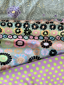 Fat Quarter Trio - The Kaffe Fassett Collective: Row Flowers, Spots and Ferns Precuts | Natasha Makes