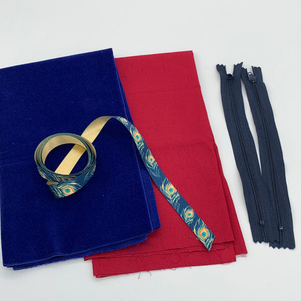 Velvet Ribbon Pouch Kit: Royal Blue