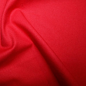 100% Cotton Plain: #26 Scarlet: Cut to Order by the 1/2m
