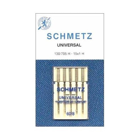 Schmetz Sewing Machine Needles: UNIVERSAL: 60/8: Pk of 5