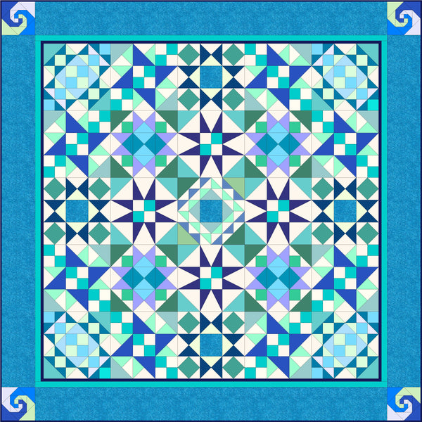 Block of the Month: Seastorm Quilt Full Compendium: PRINTED INSTRUCTIONS