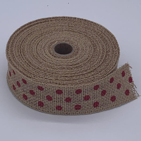 HESSIAN FULL ROLL 10M - POLKA DOT Accessory | Natasha Makes