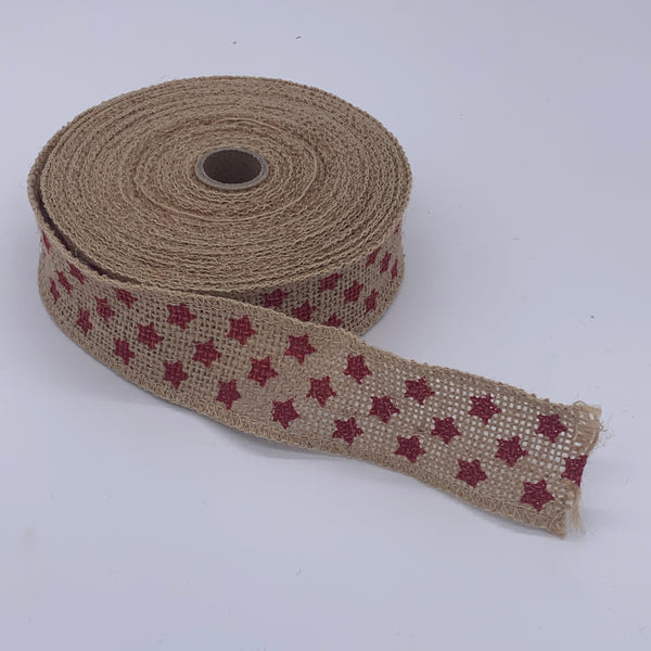HESSIAN FULL ROLL 10M - STAR Accessory | Natasha Makes