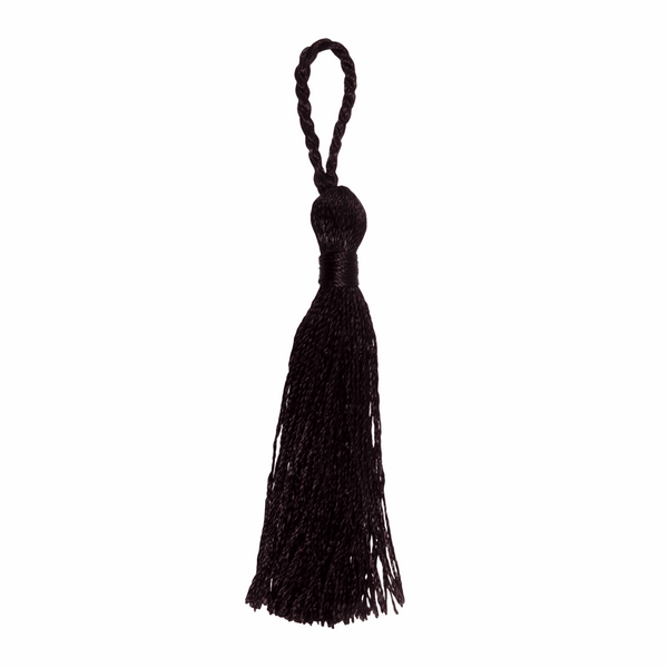 Pair of Tassels: 10cm: Black