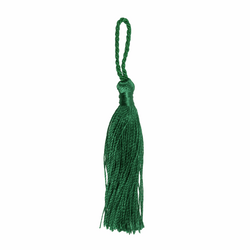 Pair of Tassels: 10cm: Dark Green