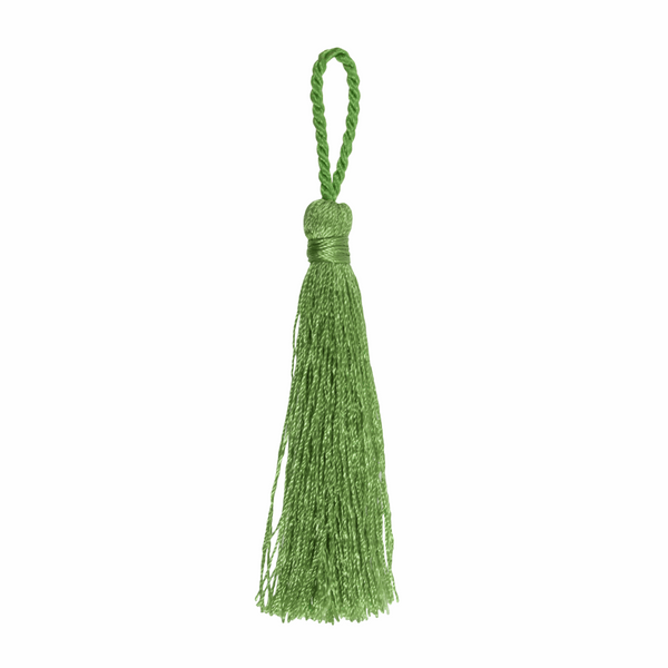Pair of Tassels: 10cm: Green