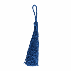 Pair of Tassels: 10cm: Navy
