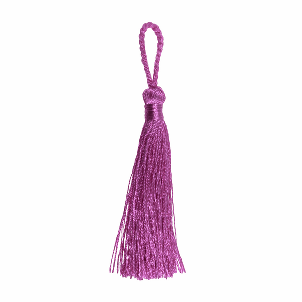 Pair of Tassels: 10cm: Pink