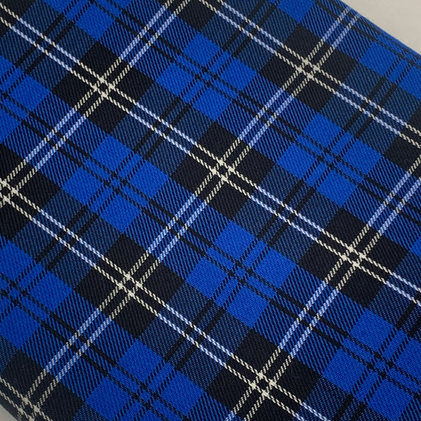 POLYVISCOSE TARTAN SOLD BY THE METER - Blue Fabric | Natasha Makes