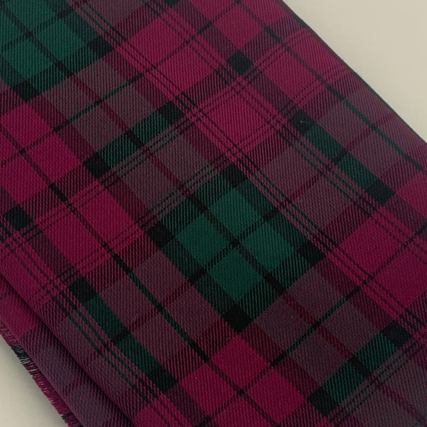 POLYVISCOSE TARTAN SOLD BY THE METER - Purple and Green Fabric | Natasha Makes
