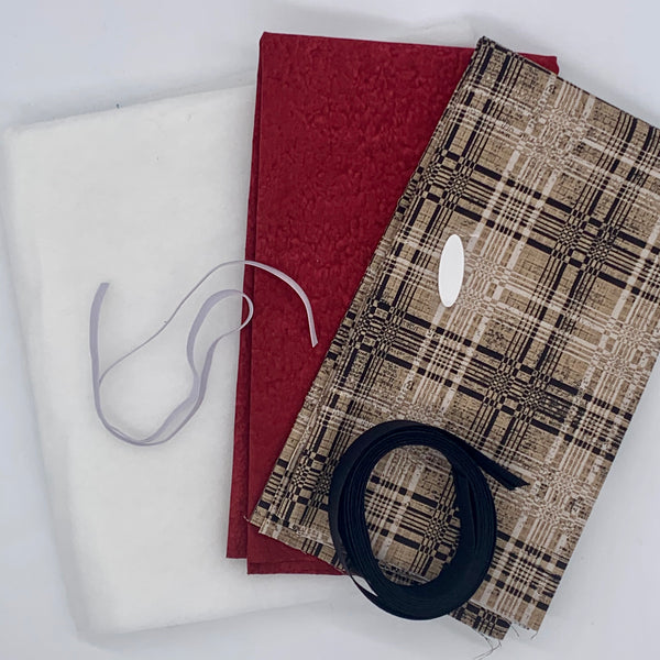 Quilted Tablet Pouch Kit - Tim Holtz Plaid and Red Kit | Natasha Makes