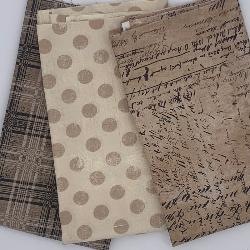 Tim Holtz Script & Plaid and Moda Grunge Spot 3 x 1/2m Bundle Custom Bundle | Natasha Makes