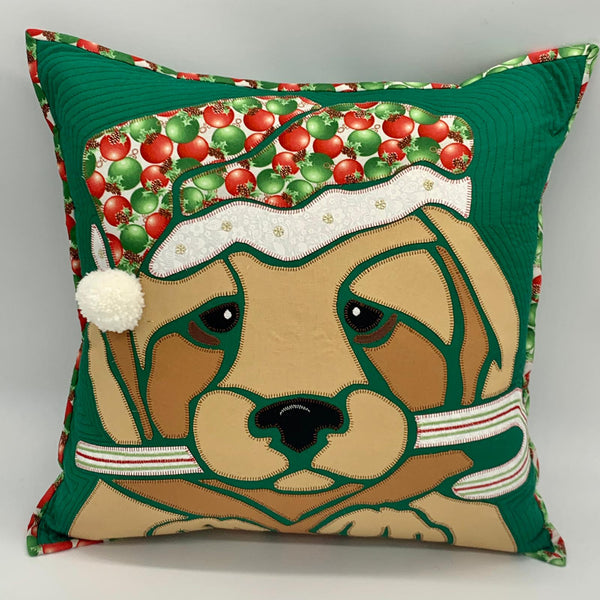 Festive Labrador/ Retriever Appliqué Kit for Kath Hardcastle Festive Cushion