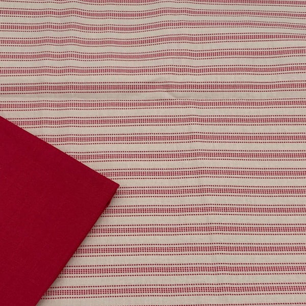 Tilda's Perfect Pairs - Apple Cake Stripe with Red