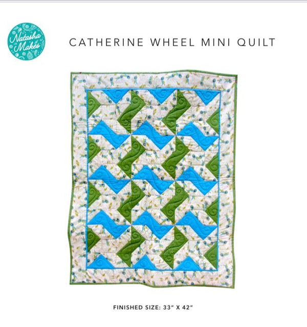 Catherine Wheel Mini Quilt Instructions