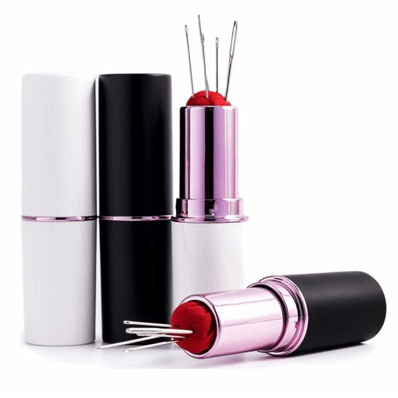 Lipstick Pin and Needle Case - BLACK