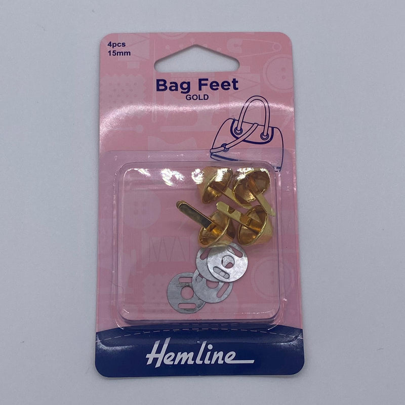 Bag Feet: Gold: 15mm