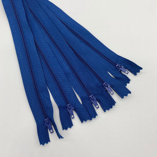 "Royal Blue 8"" Zip Bundle - 5 Zips"
