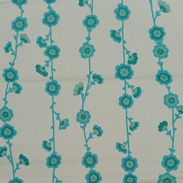 Valori Wells 'Flower Vine' Fabric in Green: 2m Precut Length, Suitable for Quilt Backing