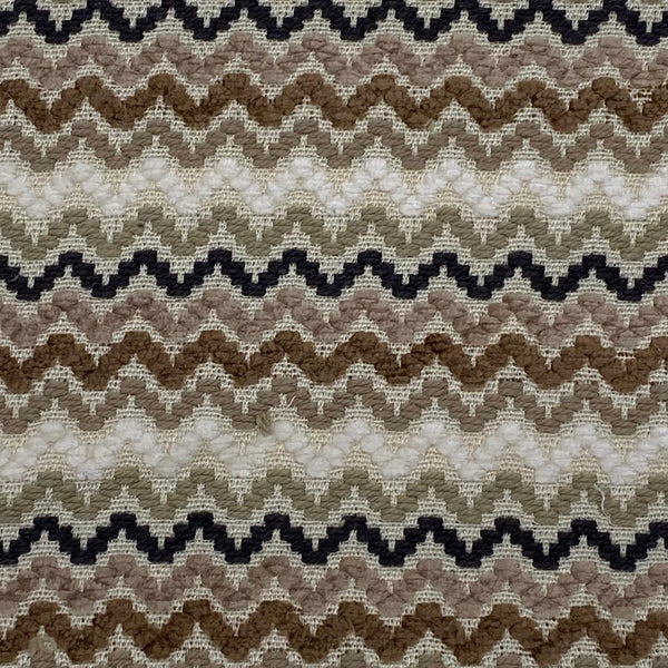 Upholstery Fabric: Brown/Cream ZigZag, BR19