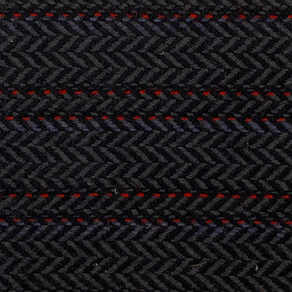 Upholstery Fabric: Black/Grey/Red Stripe, BK4