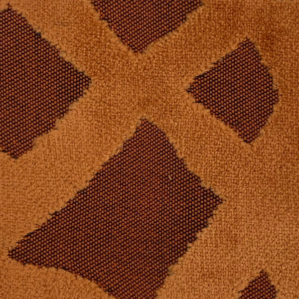 Upholstery Fabric: Orange Raised Velvet, O8