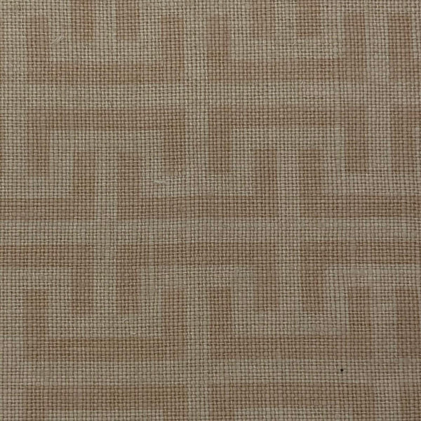 Upholstery Fabric: Pale Salmon Pink Maze Design Linen, P22