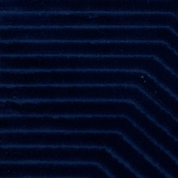 Upholstery Fabric: Blue Velvet Stripe, B26