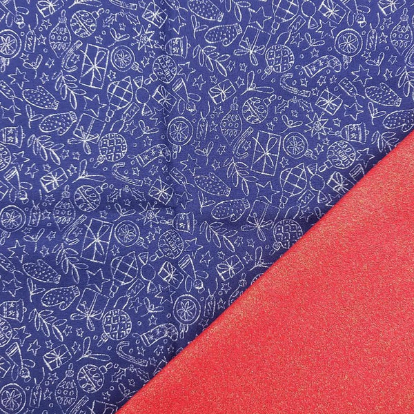 Half Metre Heaven: Liberty 'Festive Shine' with Glitter Red