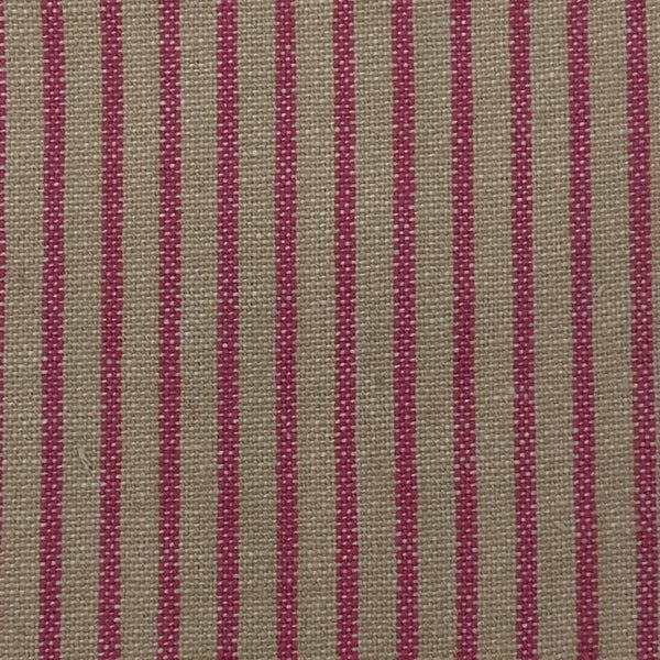 Upholstery Fabric: Pink and Cream Candy Stripe, P17