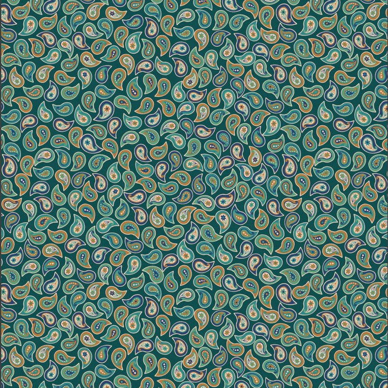 Lewis & Irene 'Small Paisley Greens': Cut To Order: By the 1/2m