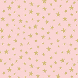 Lewis & Irene 'Gold Star on Pink': Cut To Order: By the 1/2m